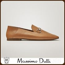 MassimoDutti♪TAN LOAFERS WITH BUCKLE DETAIL