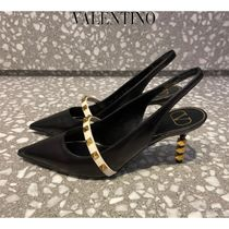 ヴァレンティノ◆ROCKSTUD SLINGBACK PUMP SCULPTED HEEL 70MM◆