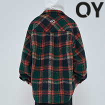 ★OY★OVERSIZE WOOL CHECK SHIRTS-GREEN★正規品/韓国直送料込