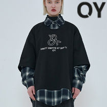 ★OY★OVERSIZE LAYERED CHECK SHIRTS-BLACK★正規品/直送料込