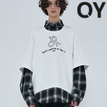 ★OY★OVERSIZE LAYERED CHECK SHIRTS-WHITE★正規品/直送料込