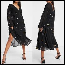 ASOS DESIGN tiered midi dress