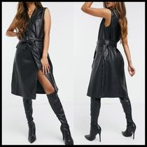 ASOS Vero Moda faux leather waistcoat dress