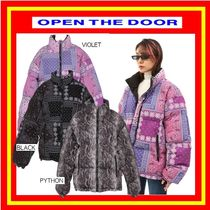 [OPEN THE DOOR] reversible paisley padding (3 color) /追跡付