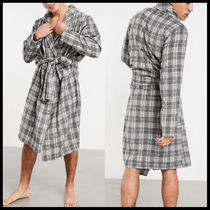 ASOS DESIGN lounge dressing gown in brushed check