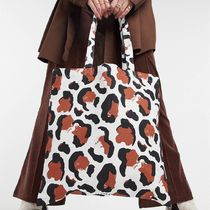 ASOS Monki Maja organic cotton leopard print tote bag