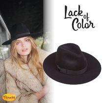 【Lack of color】ウール ハット BLACK The Midnight Muse II