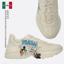 GUCCI RHYTON DONALD DUCK DISNEY X GUCCI LEATHER SNEAKERS