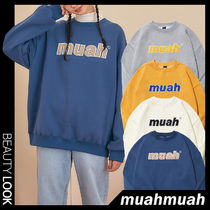 【muahmuah】20-21FW★Combi point Signature Sweatshirt 4色