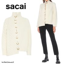 Ribbed and cable-knit turtleneck sweater☆都会的なデザイン◎