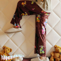 ★YOUTHBATH★VELOUR GRAPHIC PANTS_BROWN★正規品/直送料込