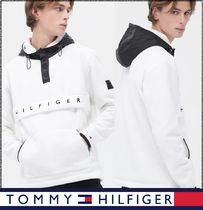 Tommy Hilfiger★正規★Fleece lettering hooded anorak/追跡付