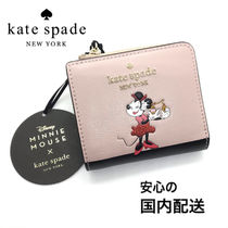 kate spade☆minnie x ksny☆no window l-zip bifold 財布☆送込