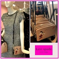 kate spade☆minnie x ksny☆double-zip お財布ポシェット☆送込