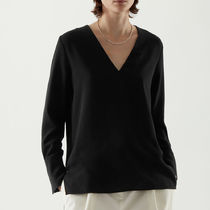 COS V-NECK CREPE TOP