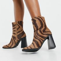 ASOS Monki Robbie vegan leather zebra print boots