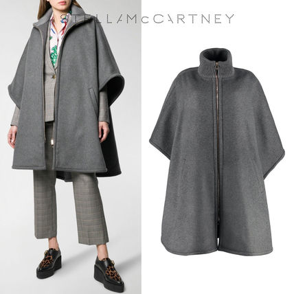 【STELLA McCARTNEY】 FW19-20 Oversized zip-front cape ウール
