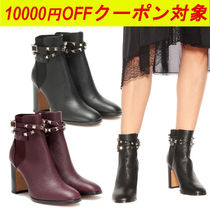 【FLASH SALE】VALENTINO★ROCKSTUD CALFSKIN ANKLE BOOT 90 MM