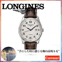 【安心米国購入】Longines Master Collection Round Leather