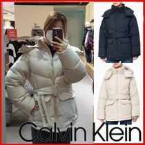 ◆CALVIN KLEIN JEANS◆Belted logo duck down jacket 全2色◆