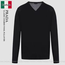 PRADA CLASSIC COMBED WOOL PULLOVER