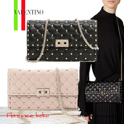 VALENTINO ショルダーバッグ・ポシェット 関税込み国内発送 Valentino☆Rockstud Spike Chain Bag