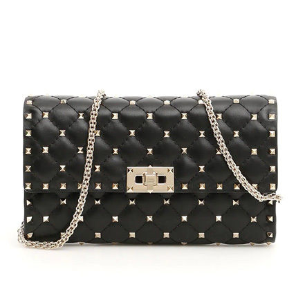 VALENTINO ショルダーバッグ・ポシェット 関税込み国内発送 Valentino☆Rockstud Spike Chain Bag(2)