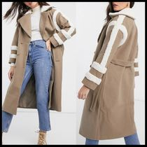 ASOS Fashion Union trench coat with shearling details