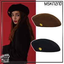 【MSKN2ND】SM:]E PATCH WOOL BERET 2色
