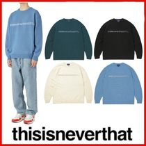 ◆thisisneverthat◆UNISEX SP-INTL. Sweater 全4色◆正規品◆