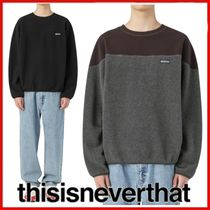 ◆thisisneverthat◆UNISEX Fleece Crewneck 全2色◆正規品◆