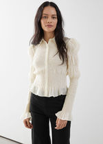 """""""& Other Stories""""新作☆Fitted Smocked Shirt(cream)"""