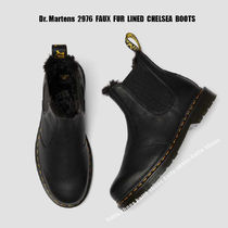 Dr Martens★2976 FAUX FUR LINED CHELSEA BOOTS★ファー ブーツ