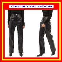 [OPEN THE DOOR] gloss leather jeans / 追跡付