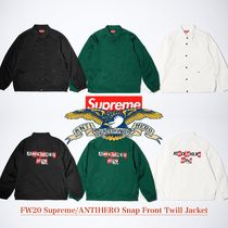 FW20 Supreme ANTIHERO Snap Front Twill Jacket - ジャケット