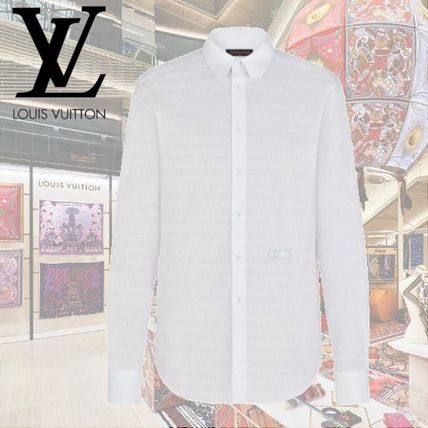 2021SS【LOUIS VUITTON】LV×NBA 長袖レギュラーシャツ white