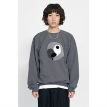 ★LMC★韓国人気★ KANCO BIG LOGO SWEATSHIRT charcoal
