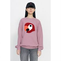 ★LMC★韓国人気★ KANCO BIG LOGO SWEATSHIRT gray pink