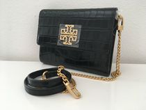 Tory Burch BRITTEN CROC CHAIN WALLET  セール 即発送