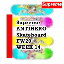 Supreme ANTIHERO Skateboard FW AW 20 WEEK 14