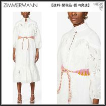 Zimmermann☆ワンピース☆Riders puffed-sleeve cotton-blend ma