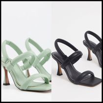 ASOS DESIGN Hickory padded mid-heeled sandals