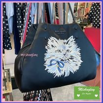 【kate spade】リュクスな猫ちゃん♪everything large tote*A4可