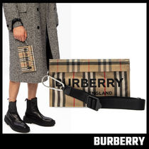 【BURBERRY】Stripe Pouch クラッチバッグ