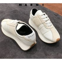 セール!!!マルニ直営店◆Big foot sneaker in fabric and suede