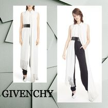 ★SALE☆【GIVENCHY】シルクノースリーブアシンメトリートップス