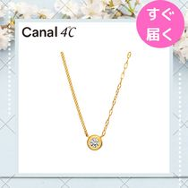 【canal 4℃】一粒ストーンモチーフ ネックレス