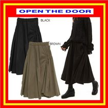 [OPEN THE DOOR] unbalance shirring skirts (2 color) / 追跡付