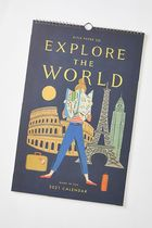 セール☆Rifle Paper Co. Explore The World 2021 Wall Calendar