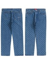 20FW Supreme regular jean washed checkerboard